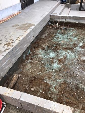 石の処分-石の回収と解体処分-東京都葛飾区東金町の工事実績