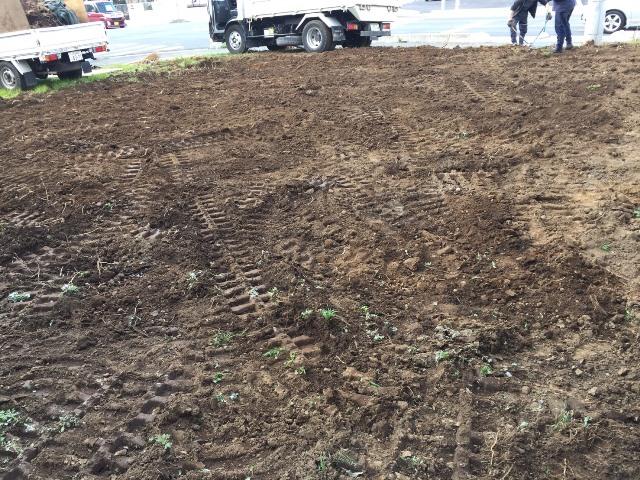 埼玉県東松山市元宿の樹木抜根撤去と整地工事の工事風景05