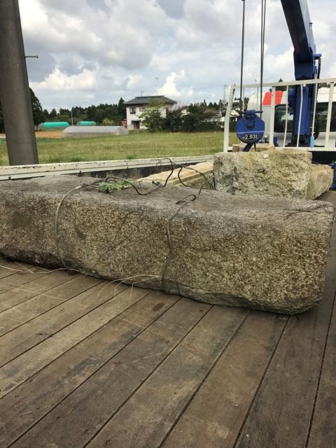 千葉県香取市吉原-御影石の石柱と大沓脱石の回収処分と撤去工事の工事完了写真