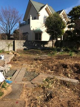 神奈川県逗子市桜山 - 庭木・植木・庭石の解体撤去と処分工事(お庭のリフォーム)のビフォー写真13