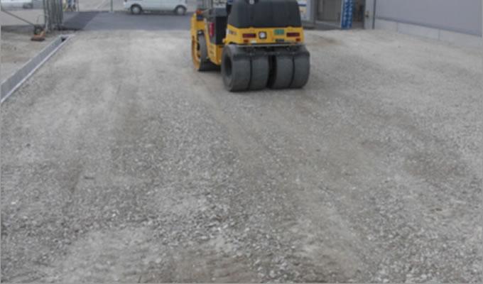 駐車場工事や舗装工事の説明画像
