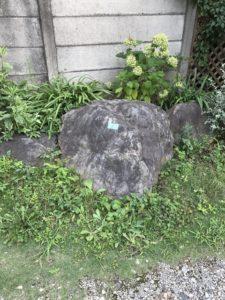 庭石処分 - 東京都稲城市での庭石撤去と庭石解体の工事風景