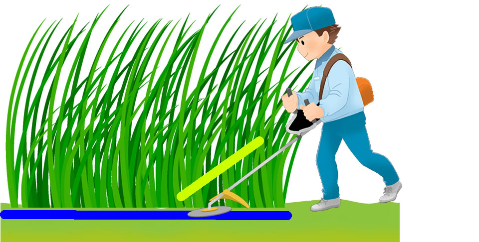 草刈りと根刈りの説明画像(根刈りイメージ)